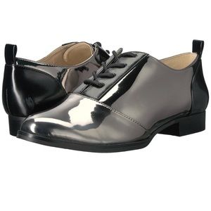 Nine West Hyida Lace Up Oxford Metallic Shoes
